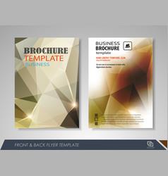 Flyer presentation template vector