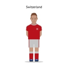 Football kit Switzerland vector image