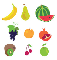 Fruit pattern on a white background vector