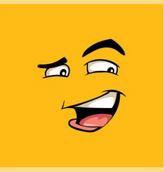 Funny avatar cunning emoji flat vector