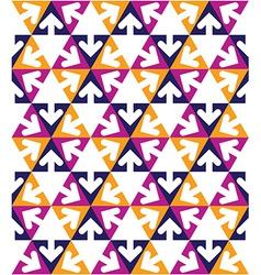 Geometric creative continuous multicolored pattern vector