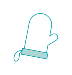 Glove potholder kitchen baking icon on white vector