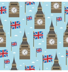 great britain pattern vector image