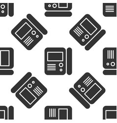 Grey house intercom system icon isolated seamless vector