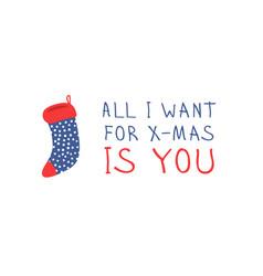 hand drawn set of cozy christmas socks for gifts vector image