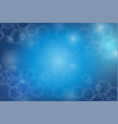 Hexagon blue abstract background vector