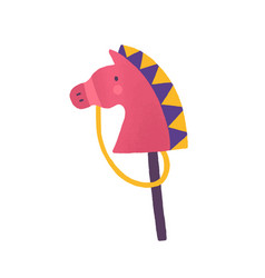 horse on stick flat animal vector image