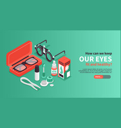 keeping eyes healthy banner vector image
