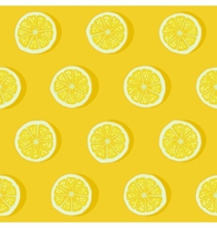 lemon seamless pattern vector image