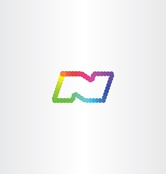 Letter n colorful circles logo icon vector