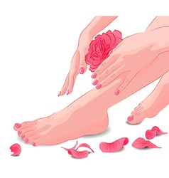 Manicure and Pedicure vector