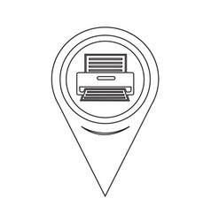 map pointer printer icon vector image