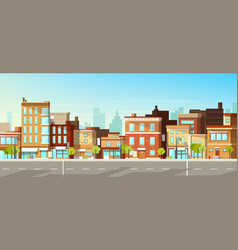 Modern city buildings flat background vector