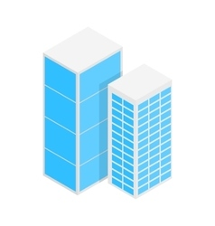 Modern office buildings icon isometric 3d style vector image