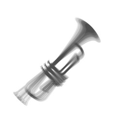 Musical instrument trumpet sign gray icon vector