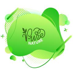 natural product vegan food sticker set vector image
