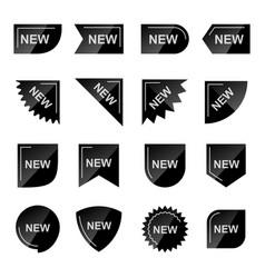 new product promotion black labels set vector image