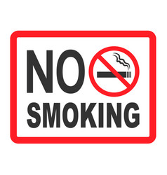 no smoking sign icon cigarette symbol graphic vector image