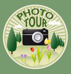 Outdoors photo tour vector