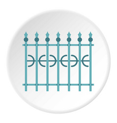 Park fence icon circle vector
