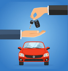 purchase buy sharing car vector image