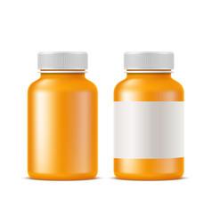 realistic medical drugs pills bottle mockup vector image