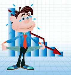 recession vector image