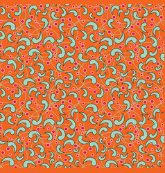 seamless orange pattern vector image vector image