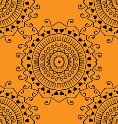Seamless yellow pattern vector