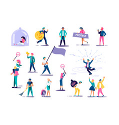 Set people for infographics vector