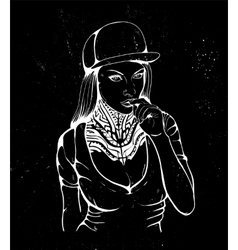 sex rap girl vector image