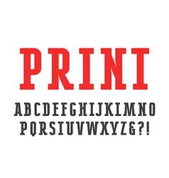 Slab serif font vector