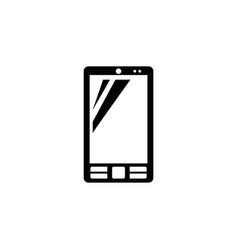 smartphone cell phone flat icon vector image
