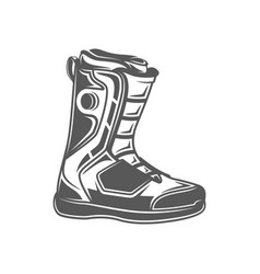 snowboard boots isolated on white background vector image