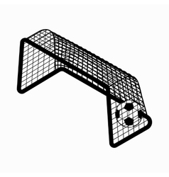 Soccer goal with ball icon isometric 3d style vector image