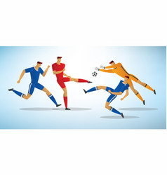soccer players 10 vector image