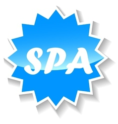 Spa blue icon vector