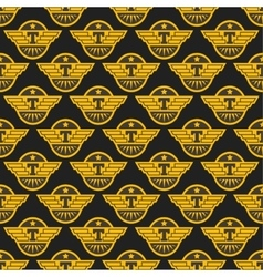Taxi badge seamless pattern vector image