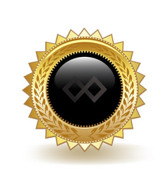Tenx cryptocurrency coin gold badge vector