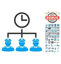 Time Army Icon With 2017 Year Bonus Pictograms vector image