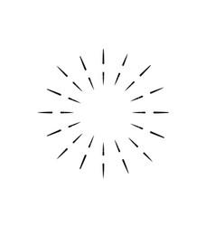 Vintage sunburst light rays firework sparks vector