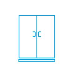 wardrobe linear icon concept wardrobe line vector image