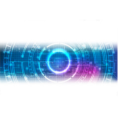 white blue futuristic technology background vector image