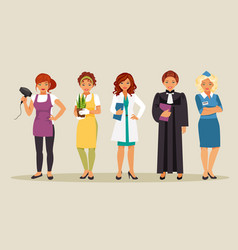 Women professions 3 vector