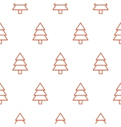 Xmas tree simple seamless pattern vector