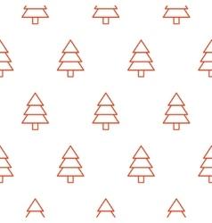 Xmas tree simple seamless pattern vector image