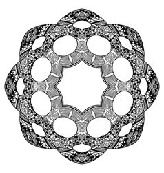 Zentangle style round pattern vector