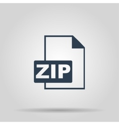 ZIP Icon concept for design vector image