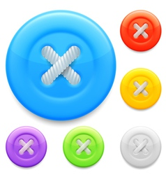 Clothing buttons vector image vector image