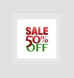 sale label template vector image vector image